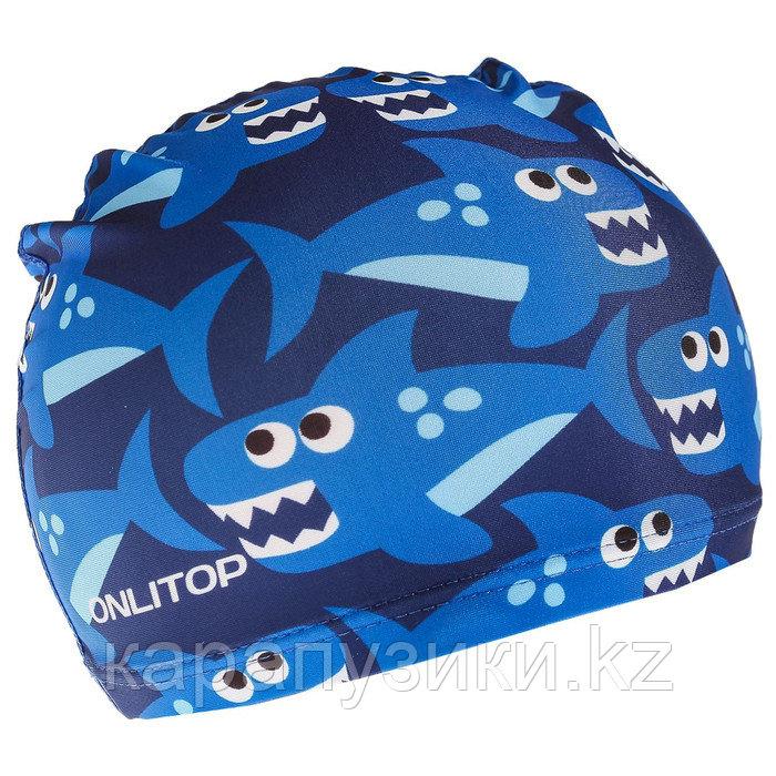 Детская шапка для плавания   акулы