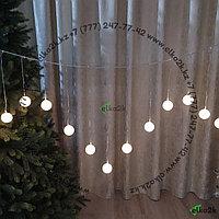 """Светодиодная гирлянда """"Кристалл"""" 3х0,55 метра, 20 лампочек, теплый-белый свет"""