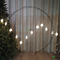 """Световая гирлянда """"Кристалл 2"""" - 3х0,55 метра, 20 лампочек, теплый-белый свет"""