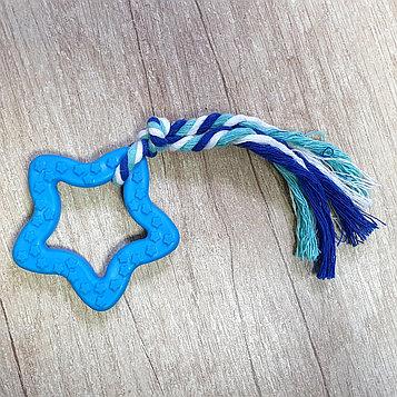 Игрушка жевательная для собак Звезда с канатом