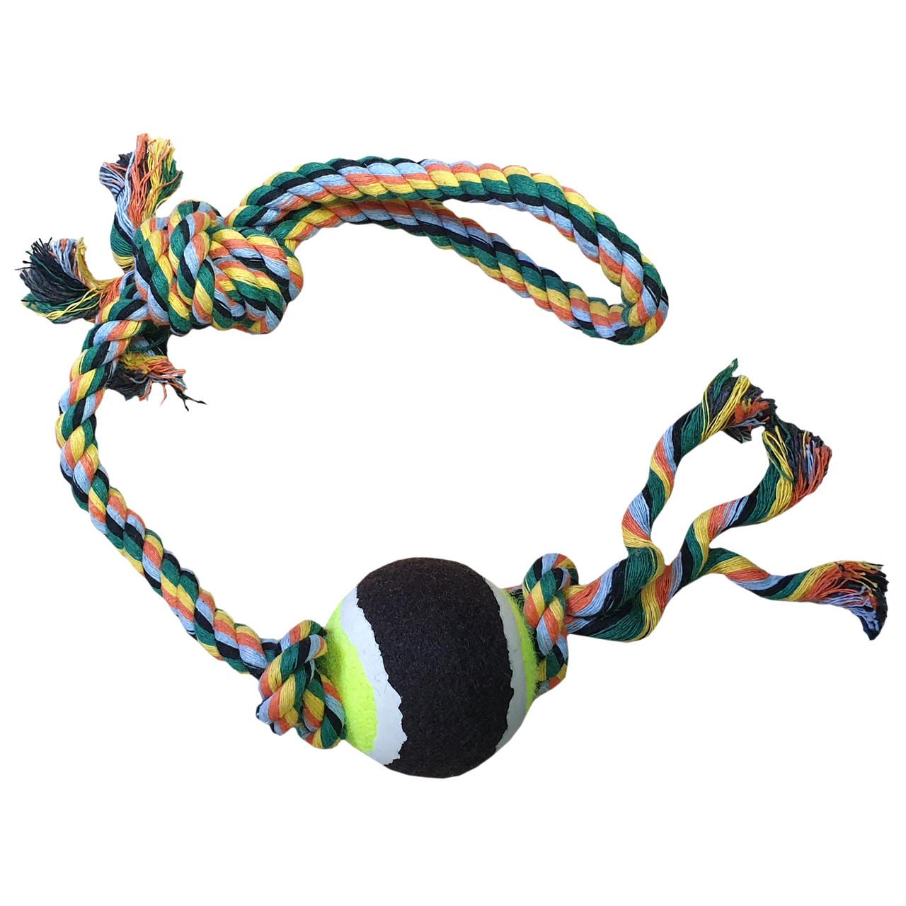Игрушка тренировочная для собак Канат с мячом