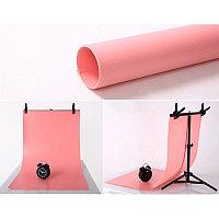 Фон пластиковый + держатель (розовый 1х2 метра)