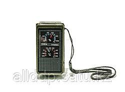 Компас T10 с подсветкой, термометром, гигрометром, лупой, зеркалом.