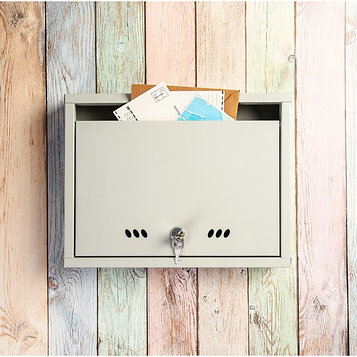 Ящик почтовый с замком, горизонтальный «Альянс-1», серый
