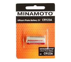 Батарейка Minamoto CR123A литиевая 3V