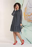 Женское летнее хлопковое синее нарядное большого размера платье Avanti Erika 1170-1 46р.