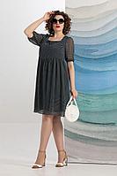 Женское летнее шифоновое синее нарядное большого размера платье Avanti Erika 1178-3 46р.