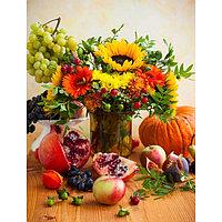 "Картина на подрамнике ""Осенний натюрморт"" 50*100 см"