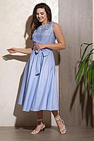 Женское летнее голубое платье Condra 4322 44р.
