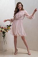 Женское осеннее розовое нарядное платье Condra 4307 42р.