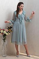 Женское осеннее голубое нарядное платье Condra 4314 46р.