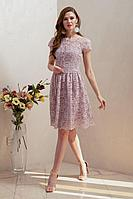 Женское осеннее кружевное розовое нарядное платье Condra 4318 42р.