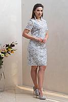 Женское осеннее голубое нарядное платье Condra 4320 44р.