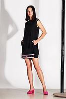 Женское летнее трикотажное черное платье Noche mio 1.170 42р.