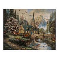 Роспись по холсту «Красивое место» по номерам с красками по 3 мл+ кисти+инстр+крепеж, 30 × 40 см