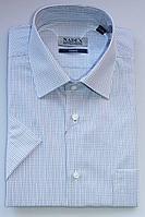 Мужская летняя голубая деловая рубашка Nadex 01-036522/403_182 сине-фиолетовый 48р.