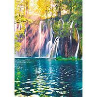 "Фотообои ""Горный водопад"" (4 листа) 140Х200 см"