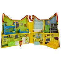 Игровой набор «Дом раскладной» 6 комнат, 14 предметов,1 фигурка-сюрприз, Три кота