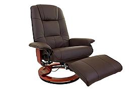 Кресло вибромассажное Calviano с подъемным пуфом и подогревом 2159