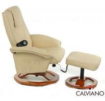 TV-кресло Calviano 20 с пуфом (бежевое, массаж)