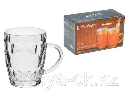 Набор кружек для пива 2шт стеклянных, 540 мл, серия Пэйл Лагер (Pale Lager), PERFECTO LINEA (30-540010), фото 2