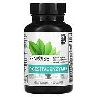 Zenwise Health, ежедневные пищеварительные ферменты с пребиотиками и пробиотиками, 60 капсул