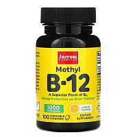 Метил B12, лимон, 1000 мкг, 100 жевательных пастилок, Jarrow Formulas
