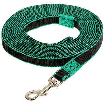 Поводок капрон+латекс для собак, зелёный 5 м