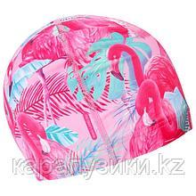 Шапка для плавания взрослая фламинго