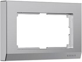 Рамка для двойной розетки /W0081806 (серебряный)