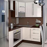 Кухонный гарнитур для маленькой кухни из акрила и мдф