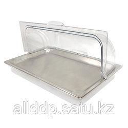Акриловый лоток для блюд - кулер, с металлическим подносом