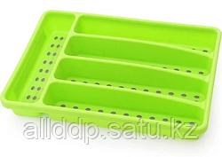 8860 FISSMAN Лоток для хранения столовых приборов 32x22,5x4,5 см, цвет ЗЕЛЕНЫЙ (пластик)