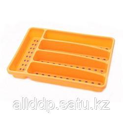 8861 FISSMAN Лоток для хранения столовых приборов 32x22,5x4,5 см, цвет ОРАНЖЕВЫЙ (пластик)