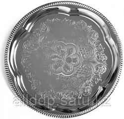 9417 FISSMAN Поднос металлический круглый 35 см хромированный