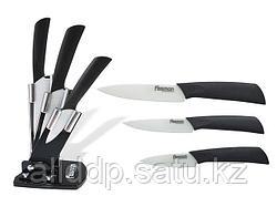 2653 FISSMAN Набор ножей 4 пр. RITS premium на акриловой подставке (белые керамические лезвия)