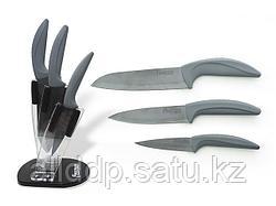 2654 FISSMAN Набор ножей 4 пр. JAZZ premium на акриловой подставке (черные керамические лезвия)