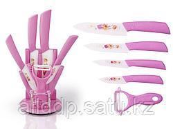 2671 FISSMAN Набор ножей 6 пр. RITMO с овощечисткой на акриловой подставке (керамические лезвия)