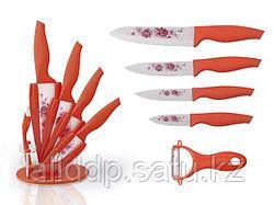 2672 FISSMAN Набор ножей 6 пр. COLIBRI с овощечисткой на акриловой подставке (керамические лезвия)