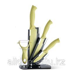 2678 FISSMAN Набор ножей 5 пр. GOBI с керамической Y-овощечисткой на акриловой подставке (сталь с антиприлипаю