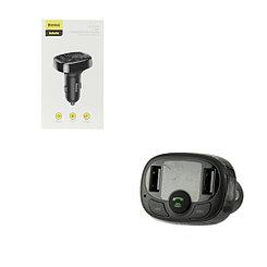 FM-Модулятор Bluetooth + Car Baseus S-09A, 3.4A, Black