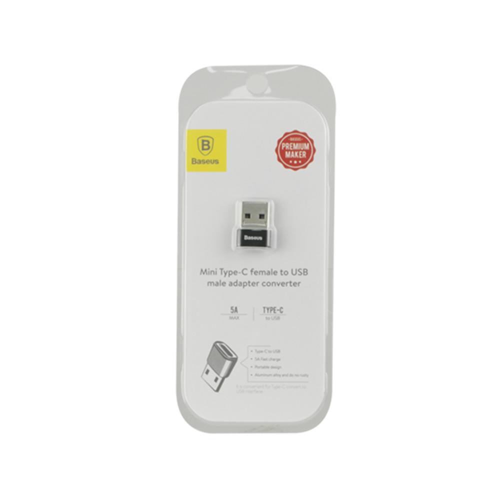 Переходник USB Male to USB Female Adapter Converter Baseus 5A, Black
