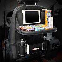 Органайзер со столиком на спинку сидения автомобиля Folding Dinner Hanging Bags (Черный)