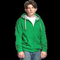 Толстовка мужская с капюшоном на молнии Style зеленый