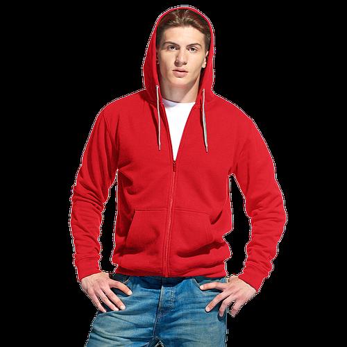 Толстовка мужская с капюшоном на молнии Style красный