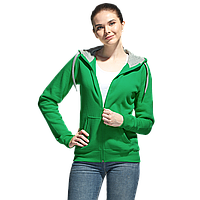 Толстовка женская с капюшоном на молнии Style Women зеленый