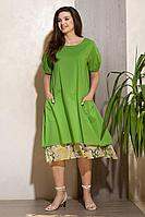 Женское летнее хлопковое зеленое платье Condra 4301 48р.