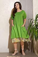 Женское летнее хлопковое зеленое платье Condra 4301 52р.