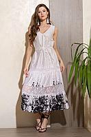 Женское летнее хлопковое белое платье Condra 4325 46р.
