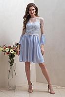 Женское осеннее голубое нарядное платье Condra 4304 46р.